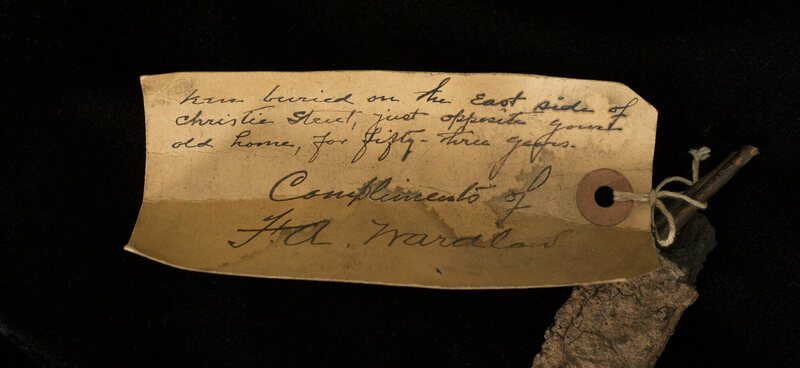 A handwritten note from Edison aide F.A. Wardlaw.