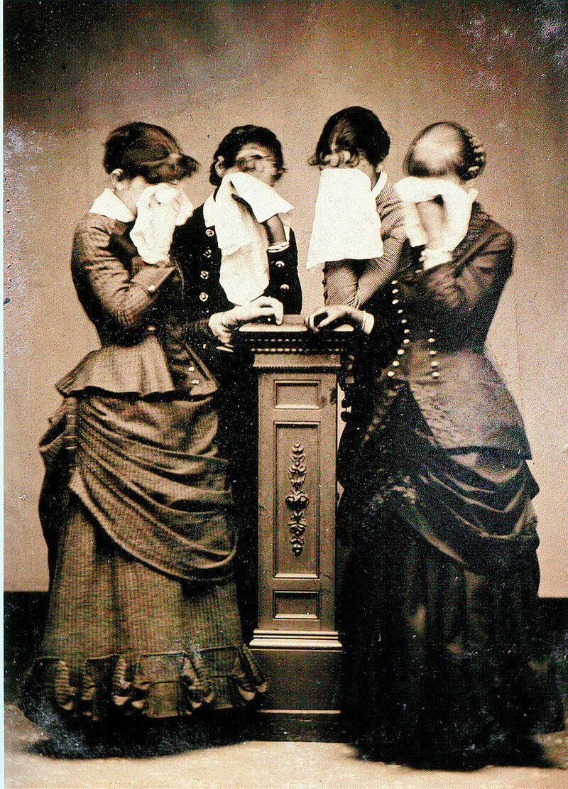 """""""Four Women Crying,"""" now available in poster form."""