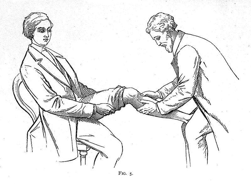 A bonesetting illustration from 1871.