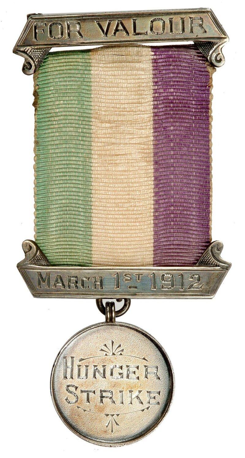 Emmeline Pankhurst's hunger-strike medal.