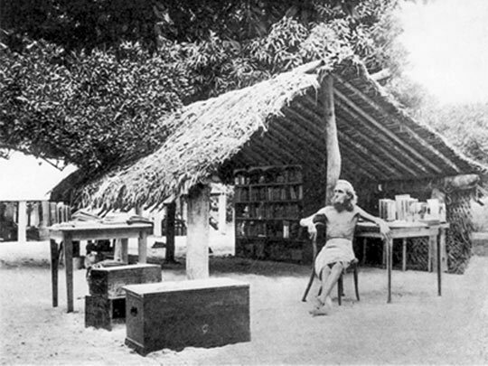 August Engelhardt in his shelter in modern-day Papua New Guinea.