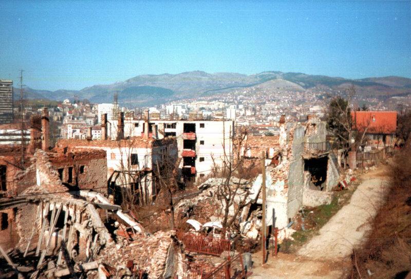 Sarejevo under siege.