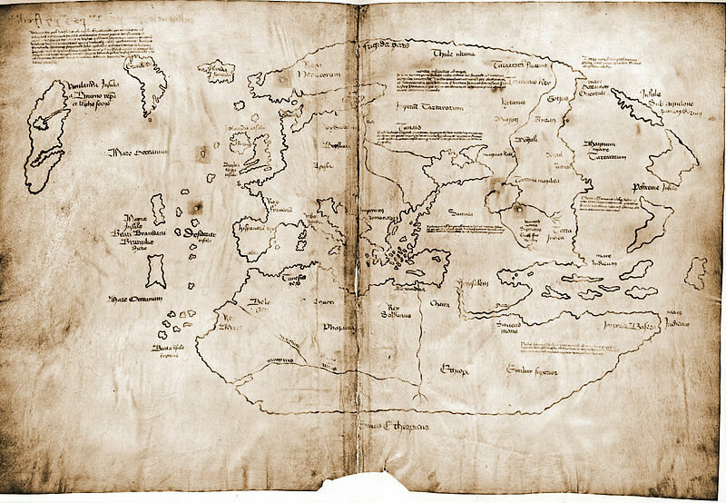 The Vinland map, which many scholars believe is a forgery.