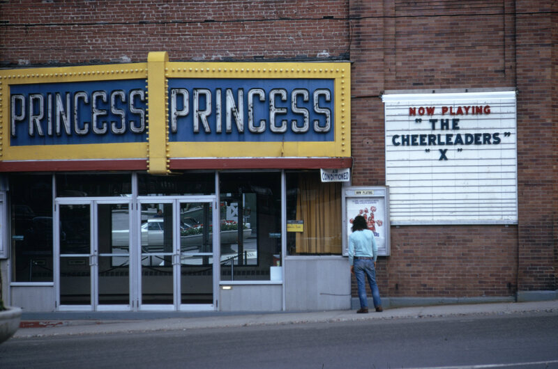 The Princess Theater, in Berlin, New Hampshire, taken by photographer Charles Steindecker in 1973.