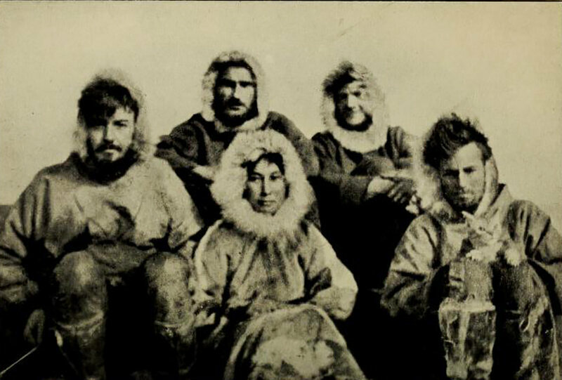 Ada Blackjack, pictured with the rest of the expedition to Wrangel Island.