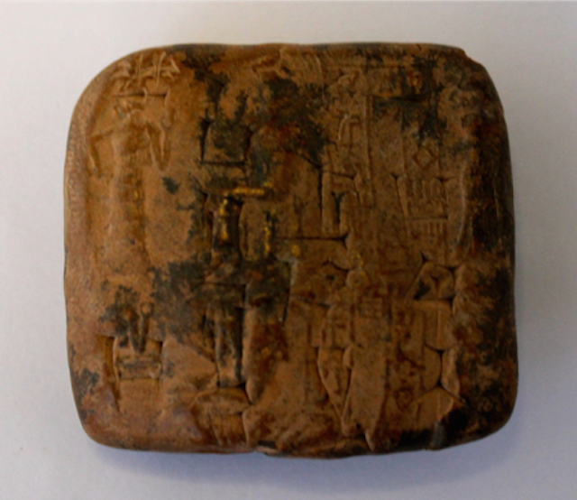 The Biblioteca Wittockiana's cuneiform tablet.