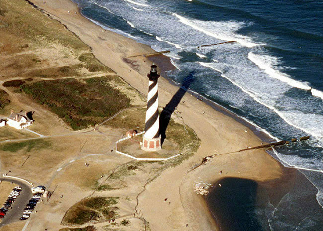 After decades of discussion, the Cape Hatteras Lighthouse was hauled to higher ground.