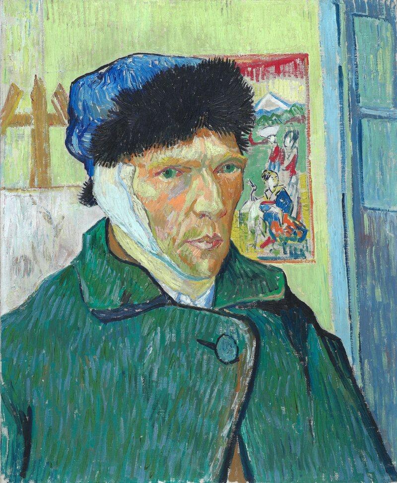 Vincent van Gogh's <em>Self-Portrait with Bandaged Ear</em>, 1889.