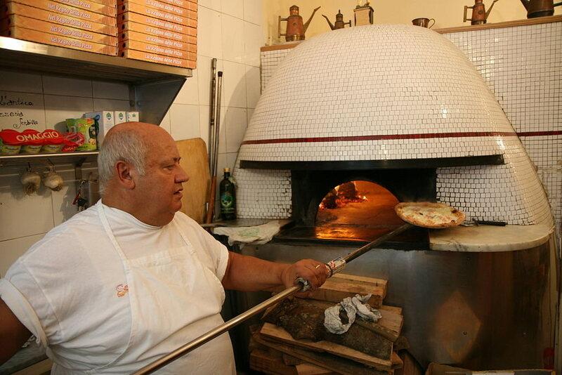 A Neapolitan pizza maker.
