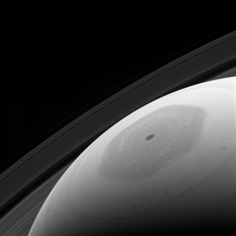 Saturn's hexagonal north pole captured by <em>Cassini</em>, January.