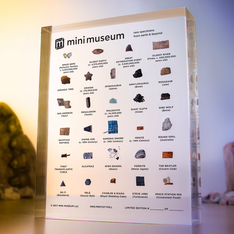 Behold the glory of the Mini Museum.