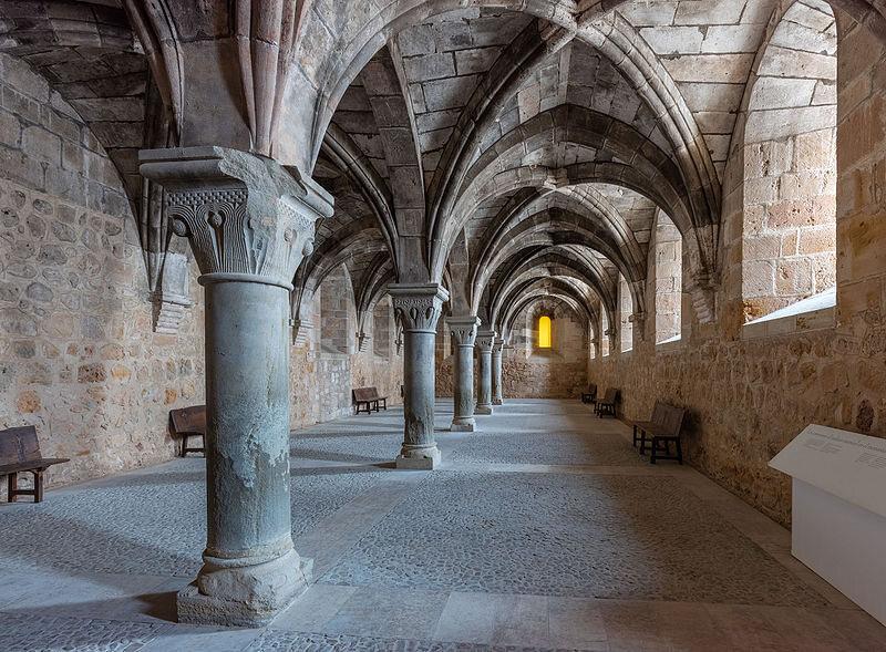 Inside the Monasterio de Santa Maria de Huerta.