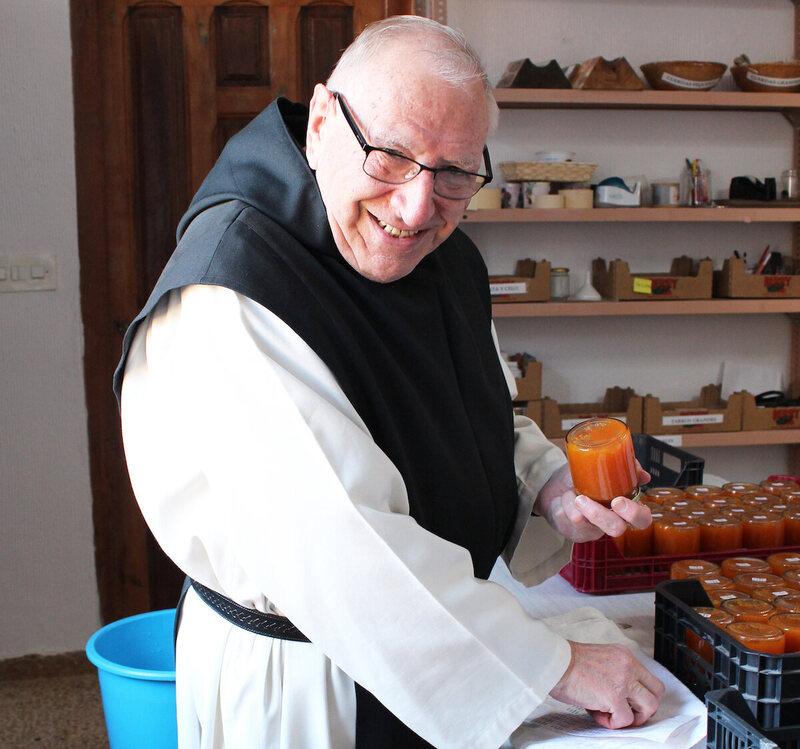 Labeling the jars at Monasterio de Santa Maria de Huerta.