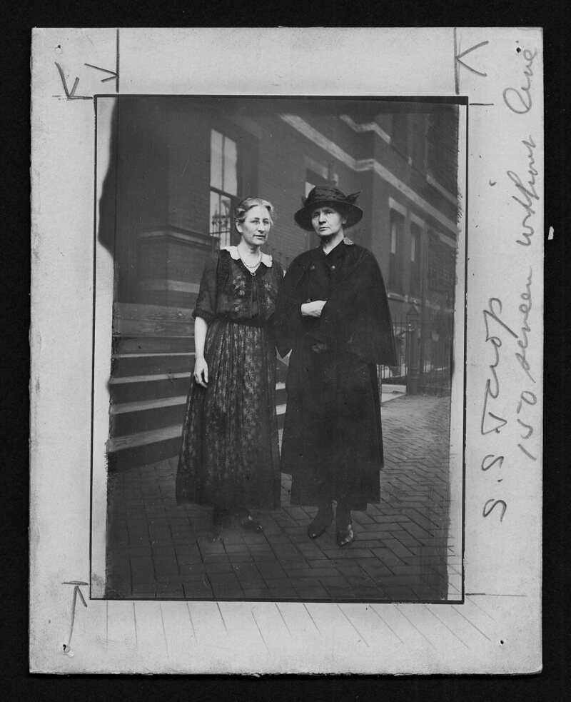 Marie Curie and WMCP Dean Martha Tracy, 1920.