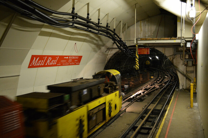 London's underground mail tunnel is now a postal museum.