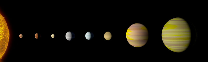 The Kepler-90 system now ties with our solar system in number of planets.