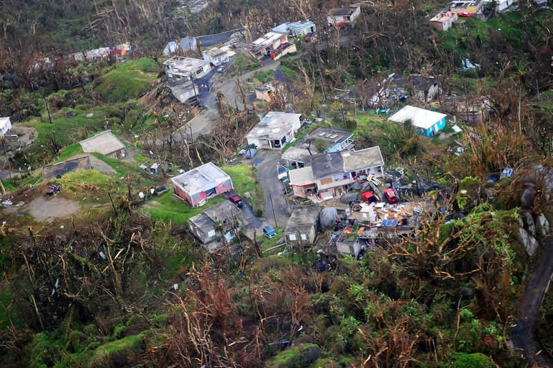 A reconnaissance flight on September 23 took stock of the vast damage caused by Hurricane Maria.