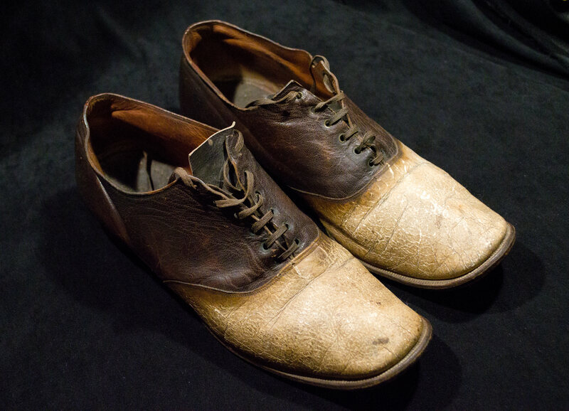 The shoes made from the remains of Big Nose George.