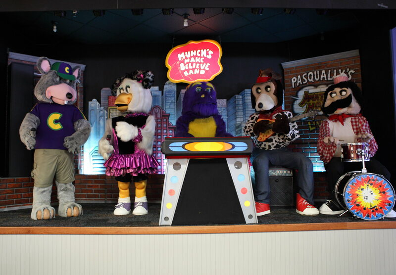 One of Chuck E. Cheese's retired animatronic bands, pictured in 2013.