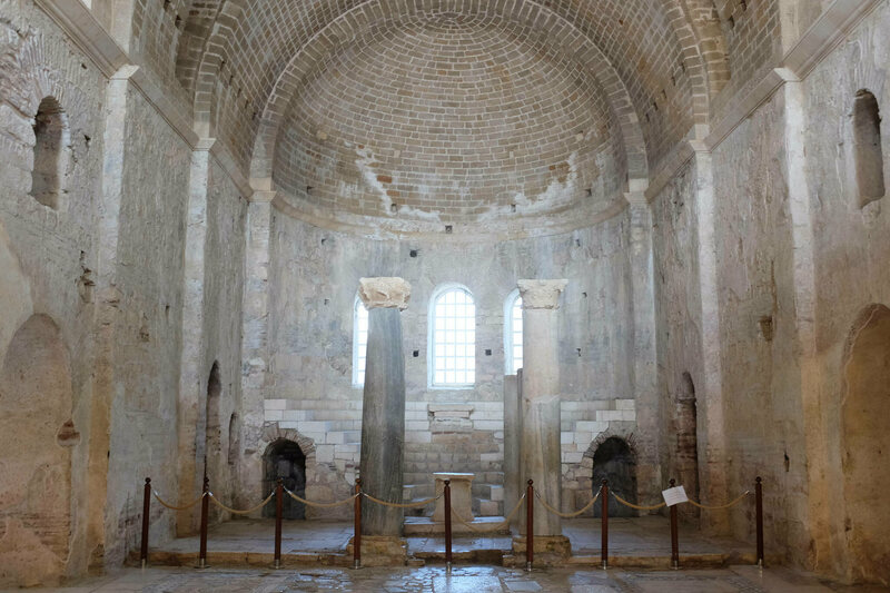 The apse of the St. Nicholas Church in Demre, Turkey.