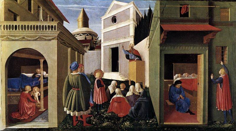 <em>Stories of St. Nicholas of Bari</em>, by Fra Angelico.