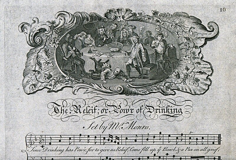 Toasts and drinking songs flourished.