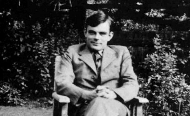 Alan Turing in 1930, long before computer music was even imaginable.