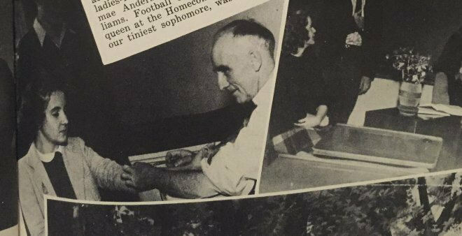 A photo of Dr. Archibald Moonlight Graham attending one of his students was included in the yearbook.