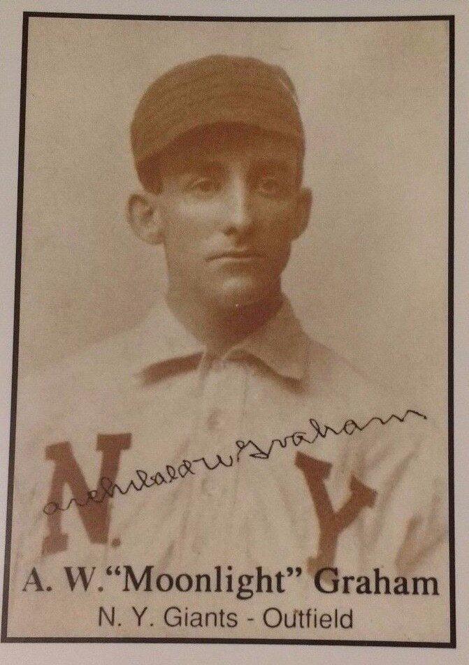 A Graham baseball card.