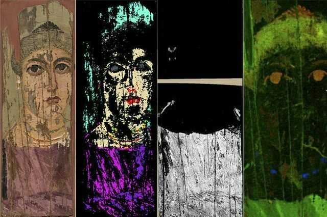 Researchers used three different imaging technologies to analyze a second-century portrait.