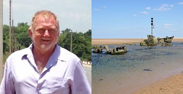 Dr. Alan Newman, and one of the places he added to the Atlas, the <em>SS Vina</em> Shipwreck in Norfolk, England.