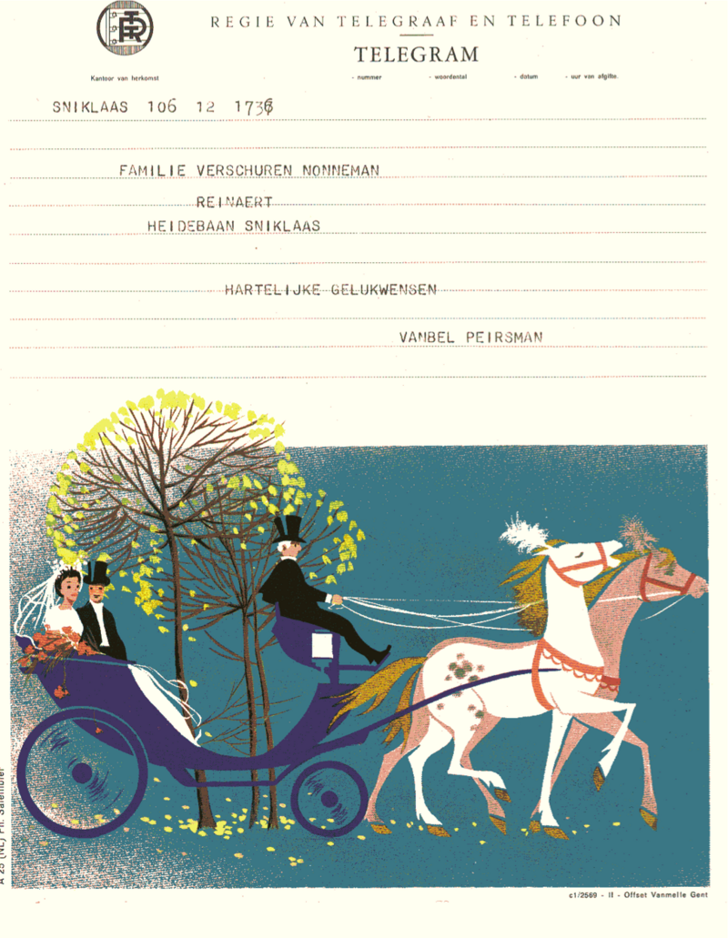 Belgium's telegrams were available in a variety of designs.
