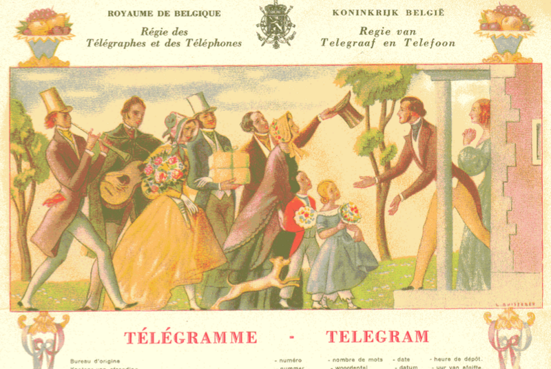 In Belgium, the day of the telegram has come to an end.