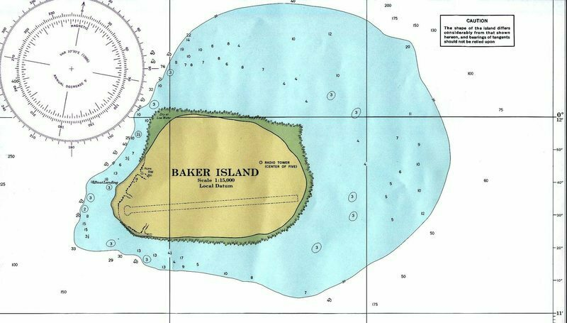 A map of Baker Island, where each year goes to die.