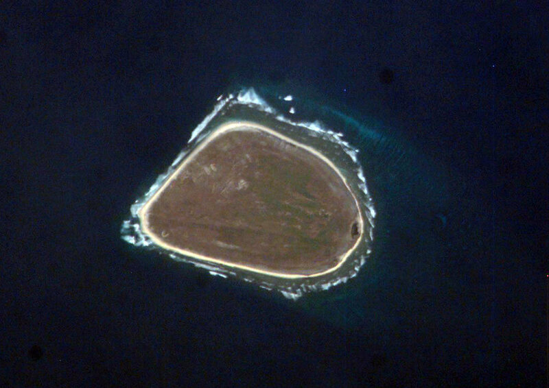 Baker Island, from space.