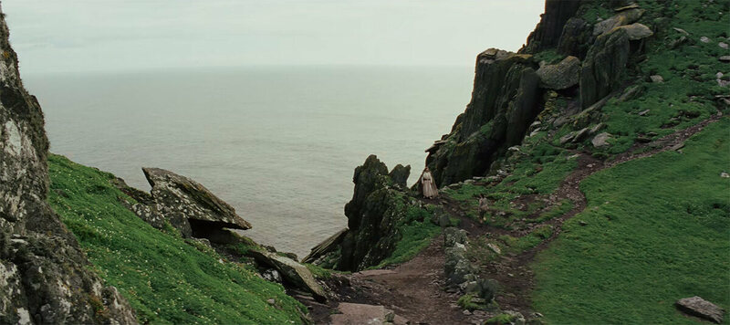 A still from <em>Star Wars: The Last Jedi</em> trailer, parts of which were filmed on Skellig Michael.