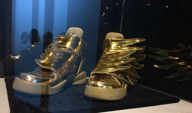 Winged sneakers, a collaboration between Adidas and the designer Jeremy Scott, nod to the sandals worn by the Greek god Hermes.