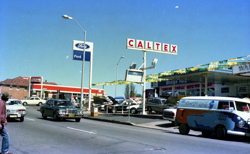 "A vintage image of an Australian service station - or ""servo""."