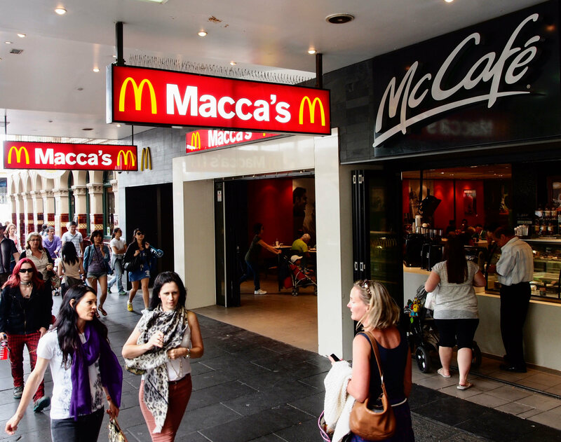 Macca's, as McDonalds is known in Australia.