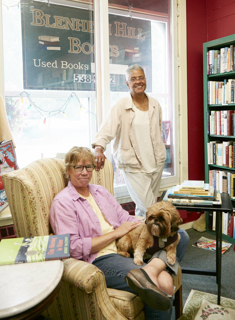 The owners of Blenheim Hill Books, Barbara Balliet and Cheryl Clarke.