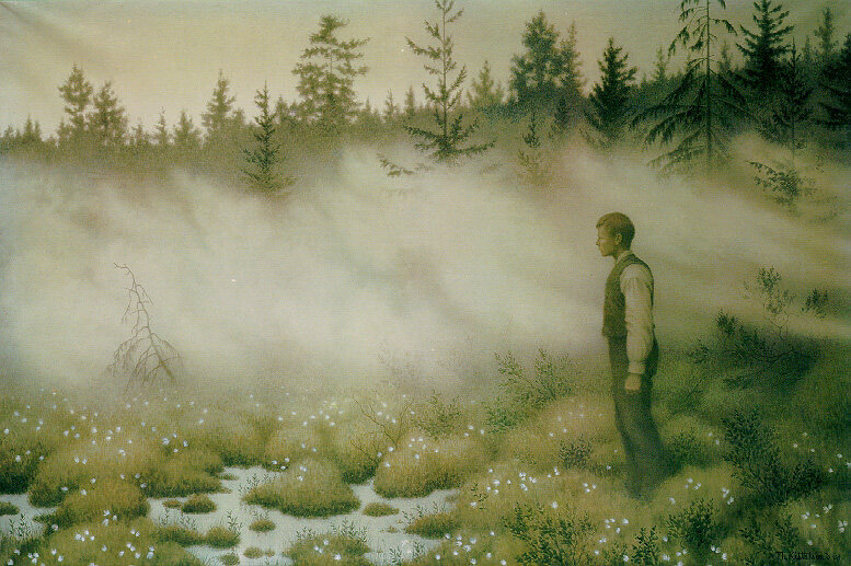 <em>Årsgång</em> is the Swedish tradition of a solitary, night-time walk in the forest.