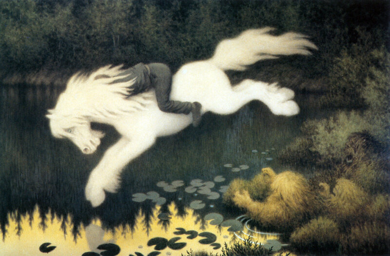 A brook-horse, from Swedish folklore.