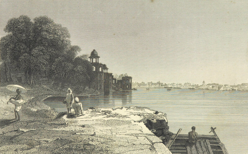 A view of Agra, India, c. 1835.