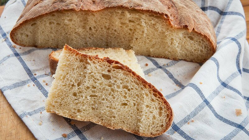 Unsalted bread from Umbria.