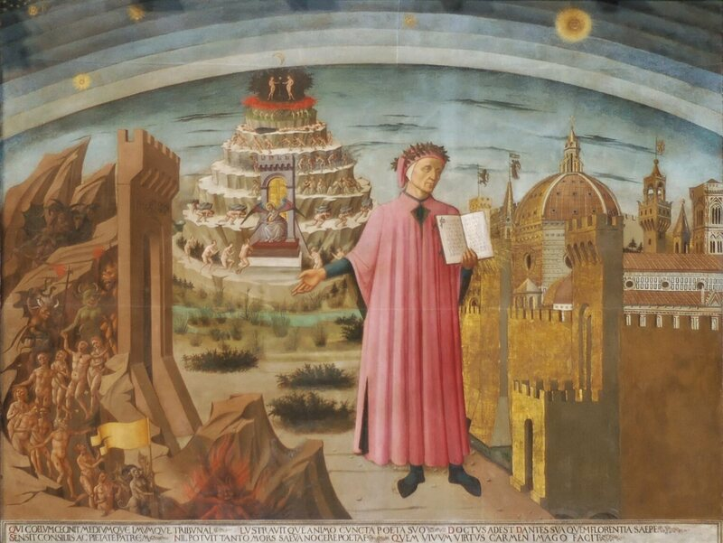 Dante mentions bread and salt in Canto XVII of <em>Paradiso</em>.