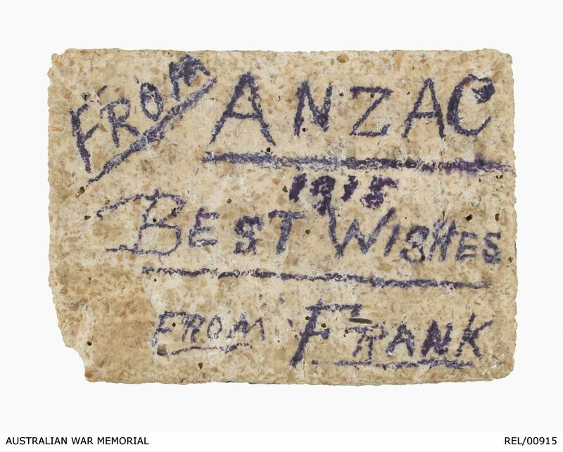 Frank's message to his mother survived a war and 100 years atop a cracker.