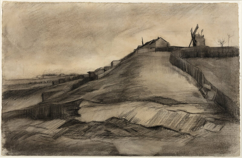 Experts confirmed that <em>Hill of Montmartre with Stone Quarry</em> (1886) was sketched by Vincent van Gogh.