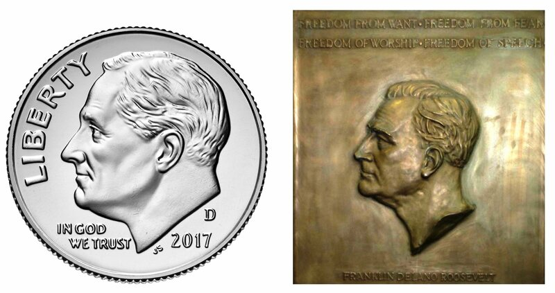Many numismatists see clear differences between Sinnock's dime design and Burke's plaque.