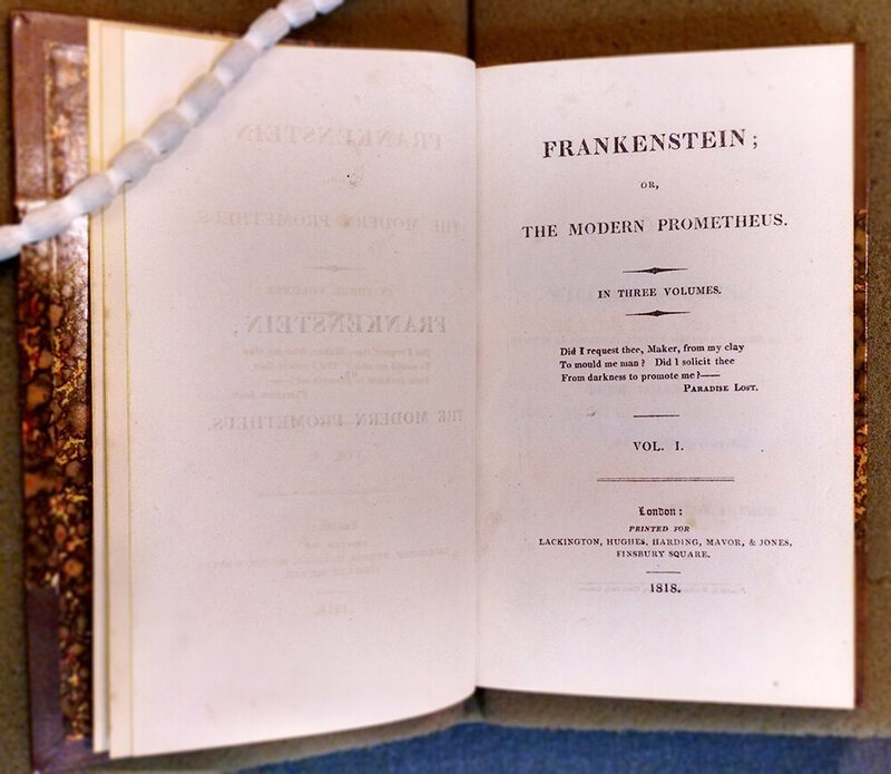 Mary Shelley's Frankenstein was first printed in 1818.