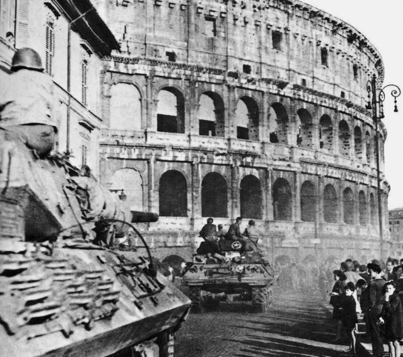 American forces in Rome on June 5, 1944.